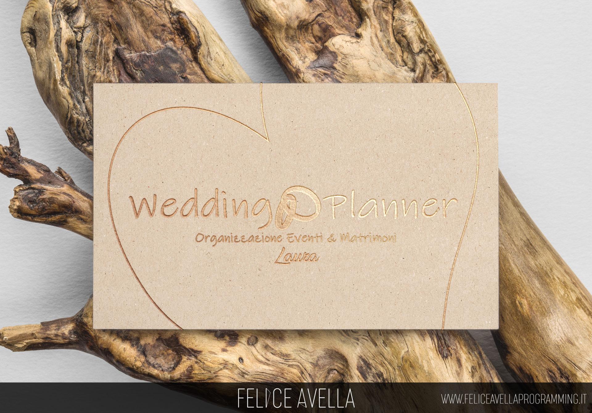 Biglietto da visita gold realizzato per Wedding Planner